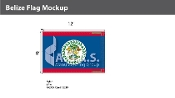 Belize Flags 8x12 foot