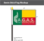 Benin Stick Flags 4x6 inch