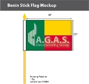 Benin Stick Flags 12x18 inch