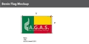 Benin Flags 3x5 foot