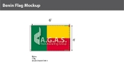 Benin Flags 4x6 foot