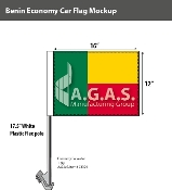Benin Car Flags 12x16 inch Economy
