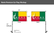 Benin Car Flags 10.5x15 inch Premium