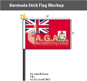 Bermuda Stick Flags 4x6 inch