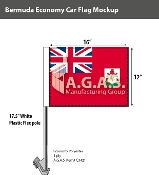 Bermuda Car Flags 12x16 inch Economy