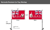 Bermuda Car Flags 10.5x15 inch Premium