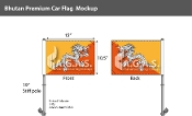Bhutan Car Flags 10.5x15 inch Premium
