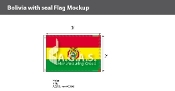 Bolivia Flags 2x3 foot (with seal)