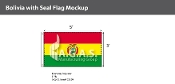 Bolivia Flags 3x5 foot (with seal)