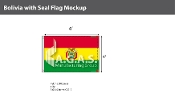 Bolivia Flags 4x6 foot (with seal)