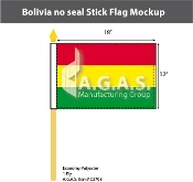 Bolivia Stick Flags 12x18 inch (no seal)