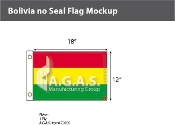 Bolivia Flags 12x18 inch (no seal)