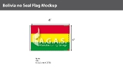 Bolivia Flags 4x6 foot (no seal)