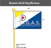 Bonaire Stick Flags 12x18 inch