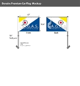 Bonaire Car Flags 10.5x15 inch Premium