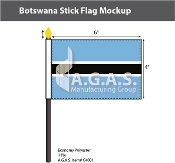Botswana Stick Flags 4x6 inch
