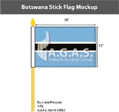 Botswana Stick Flags 12x18 inch