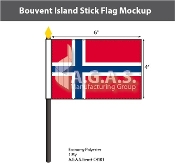 Bouvent Island Stick Flags 4x6 inch