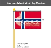 Bouvent Island Stick Flags 12x18 inch