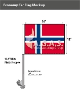 Bouvent Island Car Flags 12x16 inch Economy