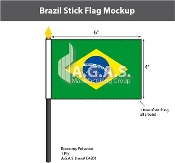 Brazil Stick Flags 4x6 inch