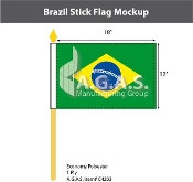 Brazil Stick Flags 12x18 inch