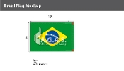 Brazil Flags 8x12 foot