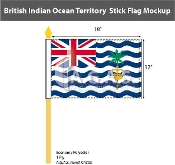 British Indian Ocean Territories Stick Flags 12x18 inch