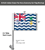 British Indian Ocean Territories Car Flags 12x16 inch Economy