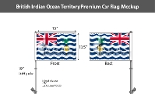British Indian Ocean Territories Car Flags 10.5x15 inch Premium
