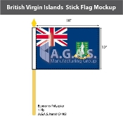 British Virgin Islands Stick Flags 12x18 inch
