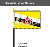 Brunei Stick Flags 4x6 inch
