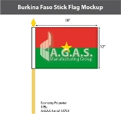 Burkina Faso Stick Flags 12x18 inch
