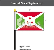 Burundi Stick Flags 4x6 inch