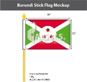 Burundi Stick Flags 12x18 inch
