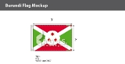 Burundi Flags 2x3 foot