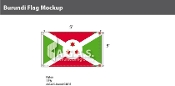 Burundi Flags 3x5 foot