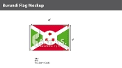 Burundi Flags 4x6 foot