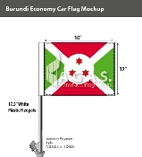 Burundi Car Flags 12x16 inch Economy