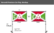 Burundi Car Flags 10.5x15 inch Premium