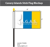 Canary Islands Stick Flags 4x6 inch