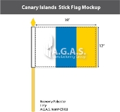 Canary Islands Stick Flags 12x18 inch