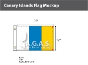 Canary Islands Flags 12x18 inch