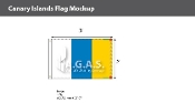 Canary Islands Flags 2x3 foot