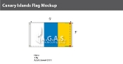 Canary Islands Flags 3x5 foot