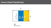 Canary Islands Flags 4x6 foot