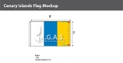 Canary Islands Flags 5x8 foot