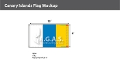 Canary Islands Flags 6x10 foot