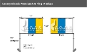 Canary Islands Car Flags 10.5x15 inch Premium
