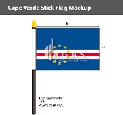 Cape Verde Stick Flags 4x6 inch